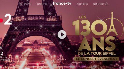 Écran vidéo Isabelle Georges Les 130 ans de la Tour Eiffel